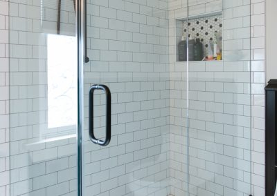 Tiled Shower with Glass surrounding