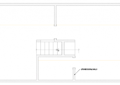 Blueprint Image of Upstair Existing Walls
