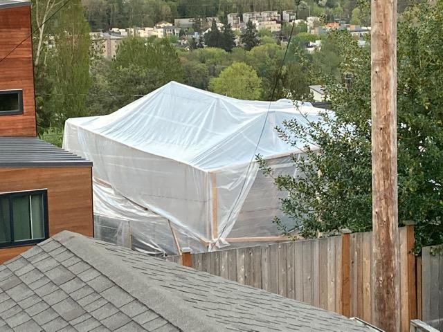 Backyard Playhouse under construction