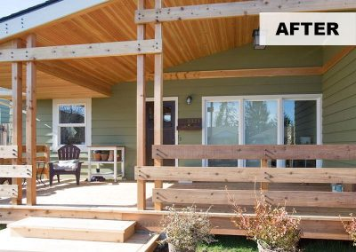Front Porch Addition After