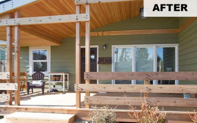 Covered Porches and Backyard Spaces